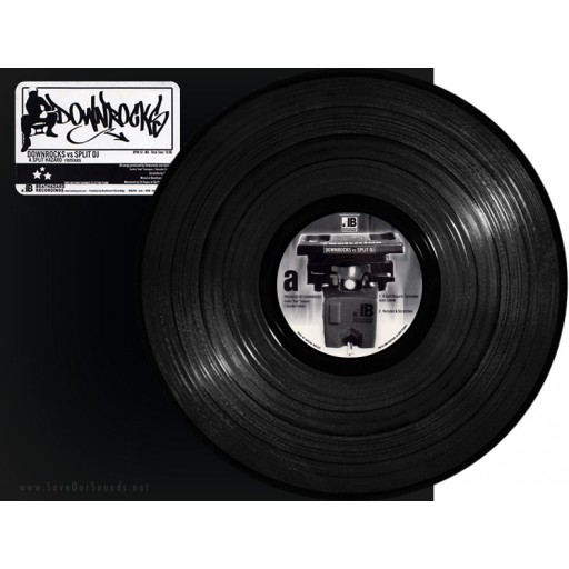 "Downrocks vs. Split DJ - A Split Hazard (Beathazard Recordings) 12"" vinyl"