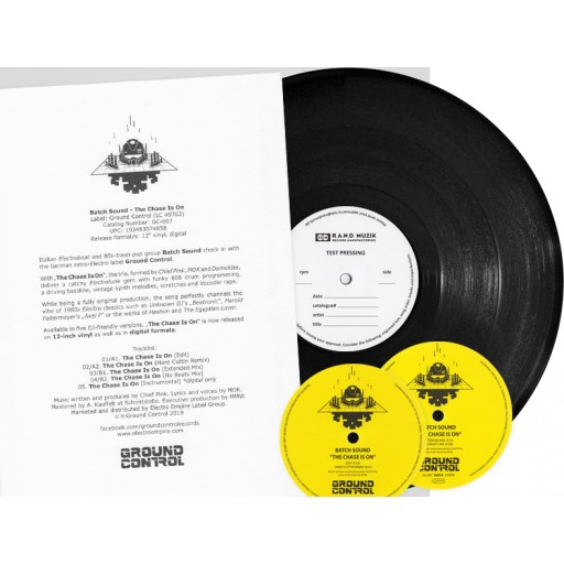 Batch Sound - The Chase Is On (Ground Control) 12'' test pressing vinyl