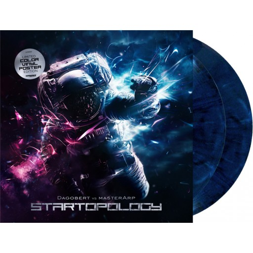 "Dagobert vs MasterArp - Startopology (Dominance Electricity) 2x12"" marbled blue"