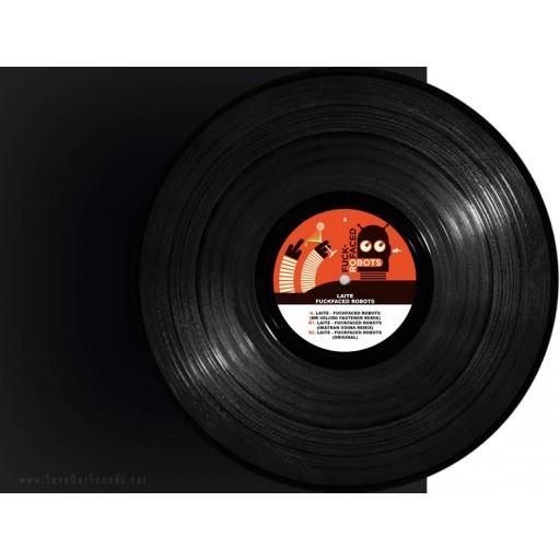 "Laite - Fuckfaced Robots (X0X Records) 12"" vinyl"
