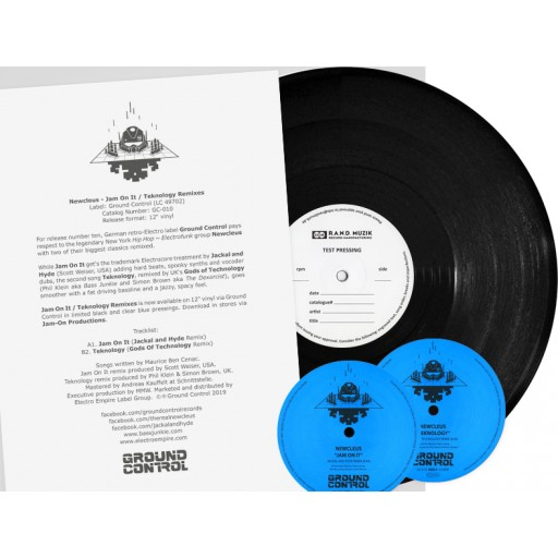 Newcleus - Jam On It / Teknology Remixes (Ground Control) 12'' vinyl test pressing