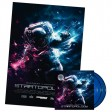 "Dagobert vs MasterArp - Startopology (2x12"" blue & MEGA poster) Dominance Electricity"